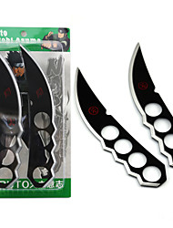 Weapon Inspired by Naruto Cosplay Anime Cosplay Accessories Weapon Black / Silver Alloy Male