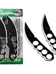 Waffen Inspiriert von Naruto Cosplay Anime Cosplay Accessoires Waffen Schwarz / Silber Legierung Mann
