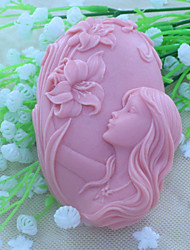 belle savon moule moule fée gâteau fondant au chocolat de silicone, des outils de décoration ustensiles de cuisson