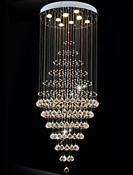 Modern LED Crystal Chandelier Lighting Pendant Lights Ceiling Lamp Fixtures with 8 Bulbs D60CM H180CM CE FCC UL