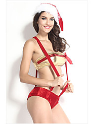 Christmas Female Santa Suits N/A Top/Hat
