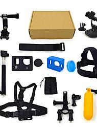 ourspop kit gp-K06-13-em uma acessórios para GoPro Hero 4 hero3 + câmera hero3