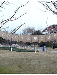 """New Arrival Wedding  Hessian Burlap """"THANK YOU"""" Banner Bunting"""