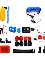 ourspop kit gp-k11-22-em uma acessórios para GoPro Hero 4 hero3 + câmera hero3