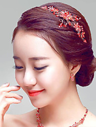 Red Rhinestones Wedding/Party Headpieces/Hair Accessories
