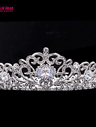 Neoglory Round Bridal Tiara Crown for Lady Wedding Pageant with Austrian Rhinestone