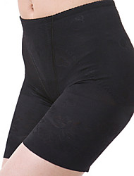 Panties Pants Polyester/Spandex Embroidery Black/Almond