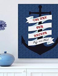 Personalized E-HOME® Canvas Print Signature You Our Anchor Design Canvas 40x 60cm