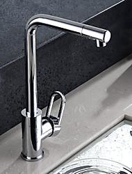 HPB contemporain 360 ° Finition laiton chromé Un trou mitigeur robinet de cuisine
