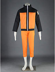 Inspired by Naruto Naruto Uzumaki Anime Cosplay Costumes Cosplay Suits Patchwork Black / Orange Short Sleeve Coat / Pants