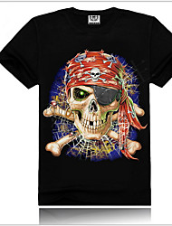 Men's 3D Printing Punk Short-Sleeve Cotton Tops