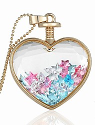Party/Casual Alloy/Acrylic Sweet Heart Shape Pendant Necklace