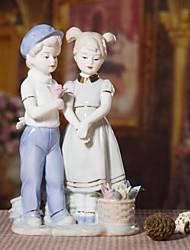 chiot céramiques d'amour cadeau de décoration pour les amoureux et mariage