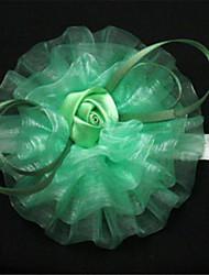 Petit bouquet de fleurs au poignet ( Rose/Vert/Pourpre/Champagne , Tulle ) Pivoines