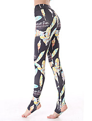 Yokaland Yoga Pants Body Shaper Color Leaf Print Stirrup Legging Workout Fitness Yoga Pant Sports Wear