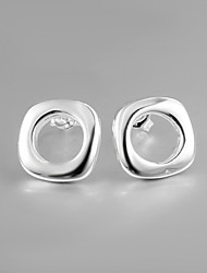 2015 Hot Selling Products Italy S927 Silver Plated Stud Earrings for Lady Fine Statement Jewelry for Women