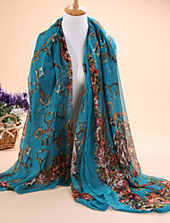 Hot selling new Ms Vintage Style 30D chiffon scarf long scarf shawl