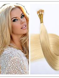 3pcs / lot 1g / s 100g / pc brésilien pré-collé de cheveux extension de cheveux bâton vierge fusion de la capsule de kératine / i Tip
