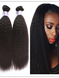 """3pcs / lot brésiliens coquins droite meilleure vente noirs brésiliens tisse 8 """"-34"""" extensions de cheveux naturels de trame de cheveux"""