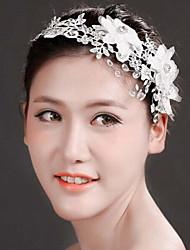 Fashion Women Tulle/Polyester Handwork Weave Headbands With Crystal/Rhinestone Wedding/Party Headpiece