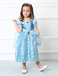 Lovely Cinderella Kid Blue Cosplay  Costumes