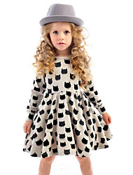 Kid's Vintage/Print/Cute Dress (Acrylic/Chiffon/Cotton)