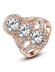 z & fashion x® or rose zircon anneaux déclaration parti / jour