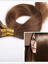 """3pcs / lot 1g / s 100g / pc de style droite brésilienne i lève cheveux de vierge de 18 """"-28"""" extensions de cheveux de kératine pré-liée en"""