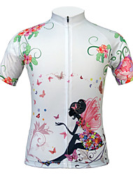 JESOCYCLING Women's Hot Selling 100% Polyester Breathable  Short Sleeve Cycling Jersey Cycling Top