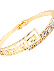The new Han edition South Korea hand ring hollow out crystal diamond-encrusted bracelet fashion and personality