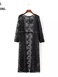 LIVAGIRL®Women's Jacket Fashion Sexy Lace Graceful Coat Europe Sexy Summer Casual Beach Sun-proof Outwear