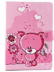 Cute little Bear  Pattern PU Leather Full Body Case with Stand for iPad air/ipad5