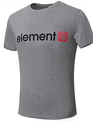 Masculino Camiseta Misto de Algodão Listrado Manga Curta Casual / Tamanhos Grandes-Preto / Azul / Vermelho / Branco / Cinza