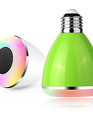 besteye®3w 100-240V E27 lâmpada LED com cor dimmable inteligente luzes lâmpada LED alto-falante sem fio Bluetooth para iphone android