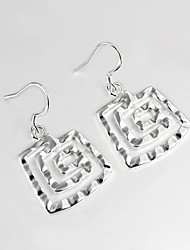 2015 New Design Wedding Dress Roman Design Silver Plated Drop Earrings for Lady with Zircon Gift for lovers