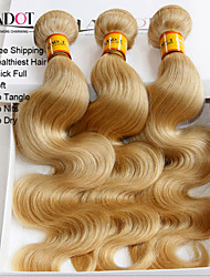 "3 Pcs Lot 12""-30"" Platinum Bleach Blonde 613 Virgin Hair Malaysian Body Wave Remy Human Hair Weave Bundles Machine Wefts"