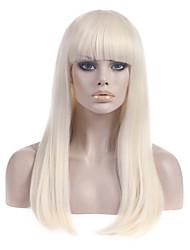 """à long platine droite blonde dame gaga """"poker face""""super étoile perruque mêmes perruques"""