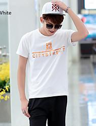 sommer mænd rund krave kortærmet t-shirt herretøj af dyrke ens moral teenager mandlige Han edition