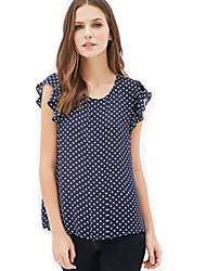 Women's Dot Print Summer Slim Shirt