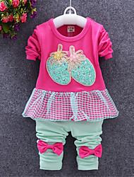 Girl Cotton Clothing Set , Spring/Fall Long Sleeve