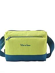 Bolsa de Ombro ( Verde Militar , Terylene , 25*10*19 L)  Multifuncional Acampar e Caminhar