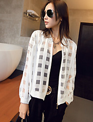 Women's Casual Translucent Long Sleeve Regular Organza) (More Colors)