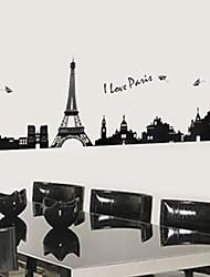 adesivos de parede decalques de parede, mini-preta torre Eiffel PVC autocolante