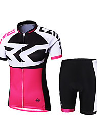Cycling Jersey with Shorts Women's / Men's / Unisex Short Sleeve BikeBreathable / Quick Dry / Front Zipper / High Breathability