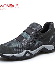 Men's Shoes Outdoor/Office & Career/Athletic Leather Fashion Sneakers Gray/Green