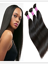 3Pcs/Lot Cheap Brazilian Straight Hair Bulk Hair Best Quality Bulk Hair Extension Natural Hair Bulk In 1B#