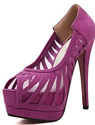 Women's Shoes Synthetic Stiletto Heel Open Toe Sandals Office & Career/Dress Purple/White
