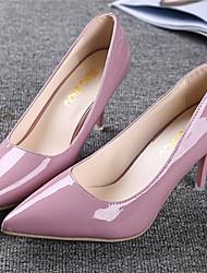 Женская обувь - Pumps/Heels ( PU , Черный / Серый / Розовый / Белый ) Высокий тонкий каблук - 6-9 см