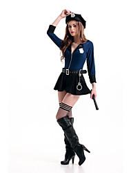 Costumes - Uniforme de police - Féminin - Halloween - Top / Jupe / Ceinture / Chapeau / Boucle