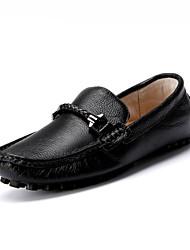 Mocasines Mocasines & ( Cuero , Negro/Azul/Marrón Tacón plano para Zapatos de hombre